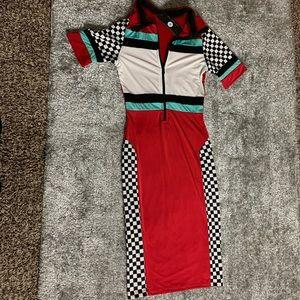 Motorsport Checkerboard Dress